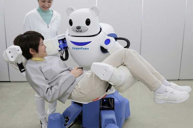 """A team of engineers working for the JSDD, with help from the Orient Industry Company have created an experimental robotic bear to assist in euthanasia and assisted suicide in Japan. SeppuKuma, which loosely translates to """"Suicide Bear""""!!!!"""