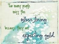 Appreciate the silver lining...