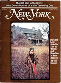 """New York Magazine (January 10, 1972) Gail Sheehy wrote an excellent article about the Beales in 1972 called """"The Secret of Grey Gardens."""" It was the summer of 1971, and Sheehy's family had rented a home across the street from what her then-7-year-old daughter called the """"Witch House."""" Several pages long, this is one of the best articles ever published on the Beales, and the story features an in-depth interview with Little Edie. The photos are striking. The iconic cover photo would later…"""