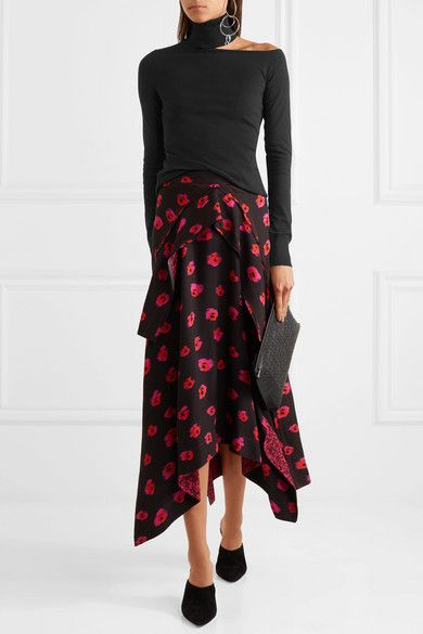 Emilio Pucci sweater, Proenza Schouler skirt, Paul Andrew mules, Loewe pouch