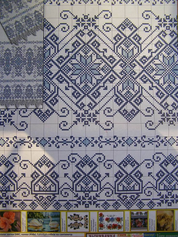Cross Stitch Pattern Ukrainian Flowers Embroidery Vyshyvanka Wedding Rushnyk 9 R…