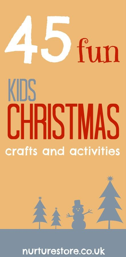 45 Winter and Christmas activities for kids - lots of art, crafts and play ideas