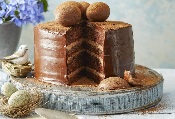 Indulge your sweet tooth and impress your family at the same time with this chocolate & hazelnut, layered Easter cake. It's an Easter recipe that really wows!