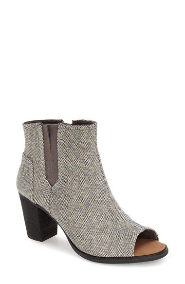 TOMS 'Majorca' Metallic Peep Toe Bootie (Women) available at #Nordstrom