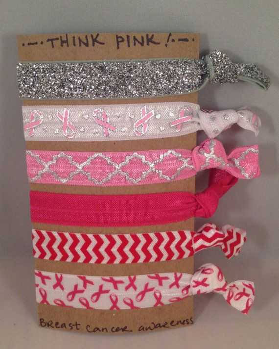 Show your support for breast cancer awareness by wearing these adorable creaseless hair ties! #breastcancer #awareness #october #hairties #tiesforteams