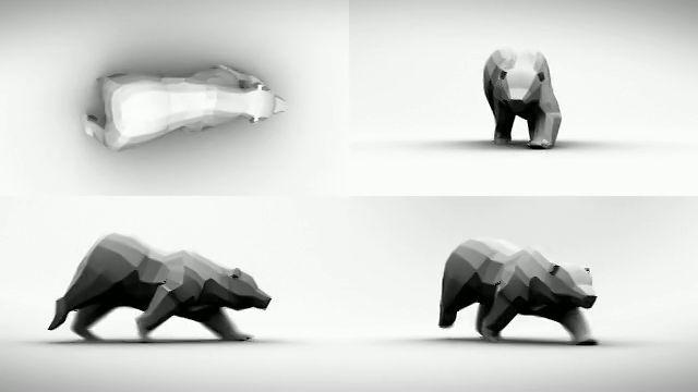 Bear Run Cycle. Gobelins 3D 3rd year animation exercise. A Run cycle of a Bear