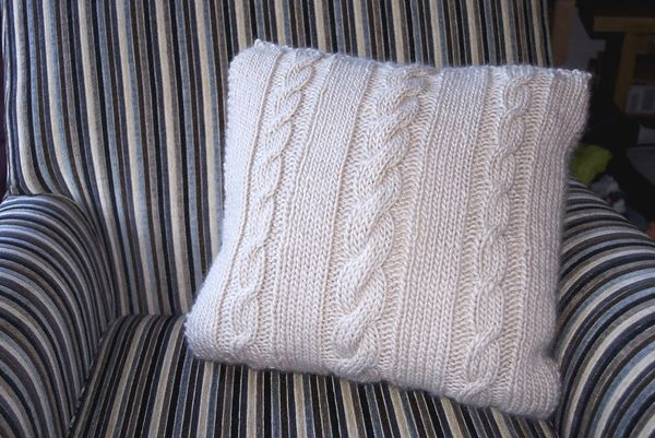 Modern Knitted Pillow : Homemaking Today Modern Trends for Daily Life At HomeCable Knit Pillow Pattern Smushion ...