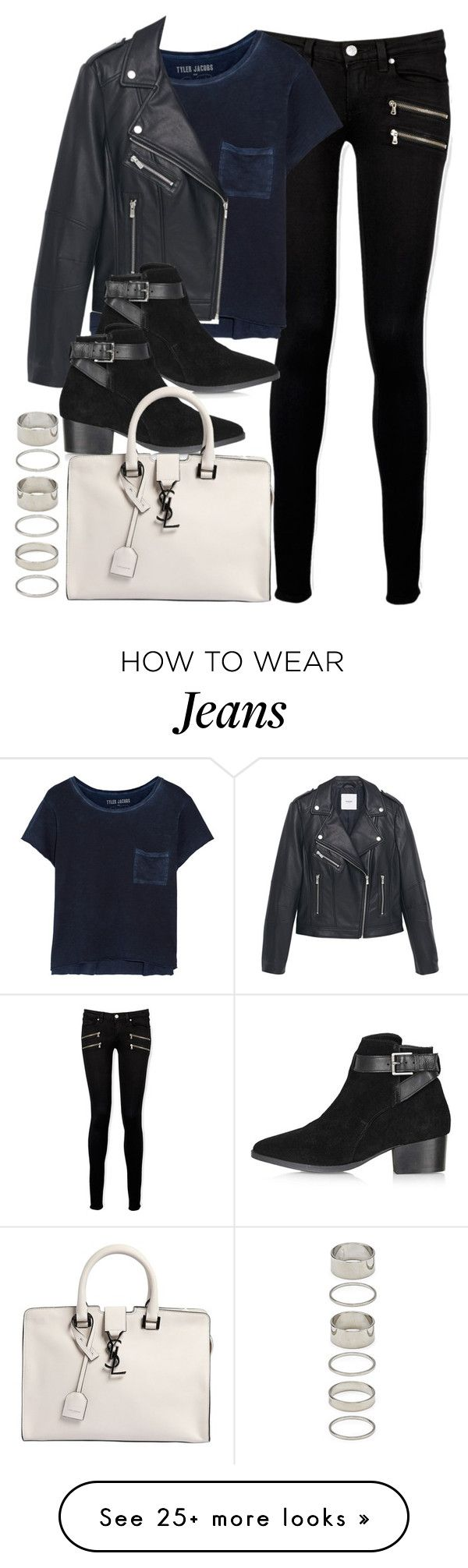 """""""Style #9877"""" by vany-alvarado on Polyvore featuring Paige Denim, MANGO, Topshop, Yves Saint Laurent and Forever 21"""