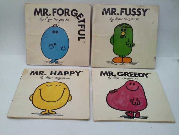 Mr. Men books!  Need to find these for the little one