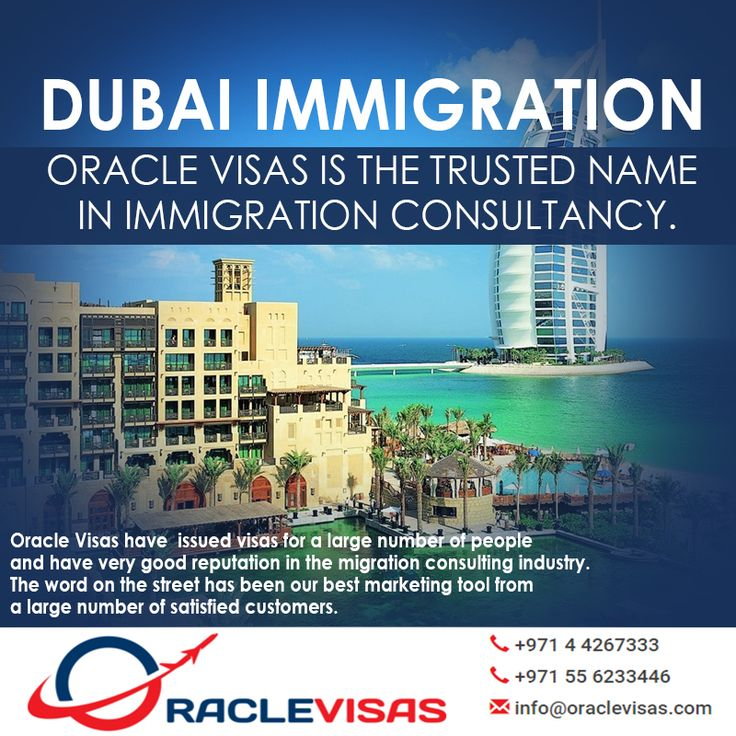Oracle Visas is the trusted name in Immigration Consultancy. The word on the street has been our best marketing tool from a large number of satisfied customers. Oracle Visas have issued visas for a…