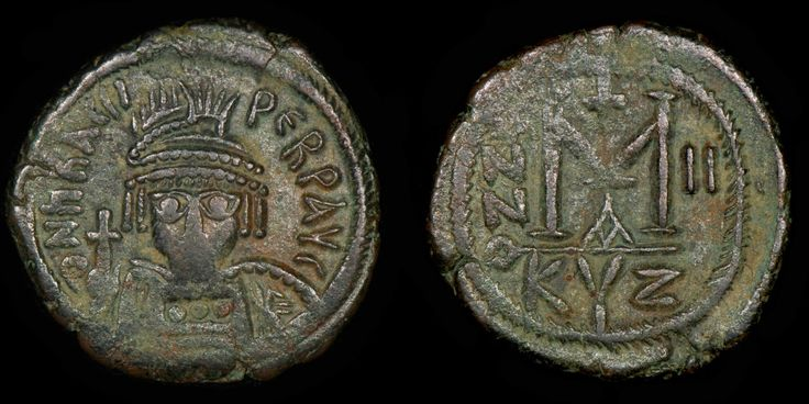 Follis from the reign of Heraclius 610-641