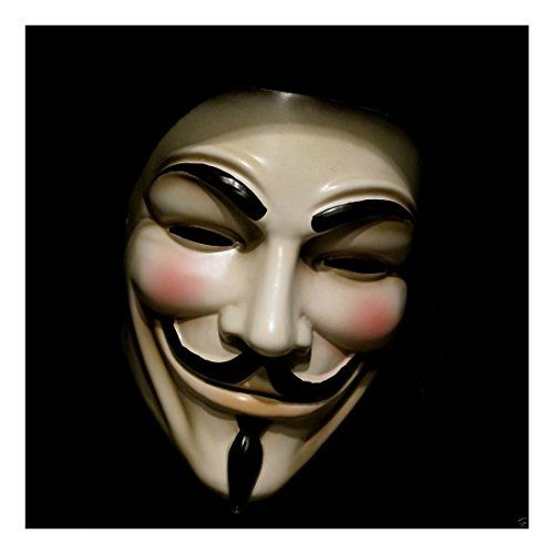 V for Vendetta Mask Guy Fawkes Anonymous Halloween Masks Fancy Dress Spooky * Click on the image for additional details.  This link participates in Amazon Service LLC Associates Program, a program designed to let participant earn advertising fees by advertising and linking to Amazon.com.