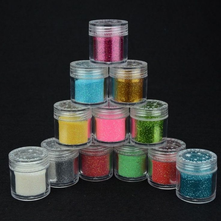 Beau Gel 12 Color Acrylic Powder Nail Art Sculpting Sculpture Carving Acrylic Powder Bling Nails Flour for Nail Art Design