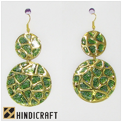 Art Nouveau Iolite Chandeliers Earrings  www.hindicraft.com  Hindicraft offer top quality costume jewelry, handbags and other gift items. We create a wide variety of eye-catching and aesthetic fashion and costume jewelry from bone, metal, glass, horn, thread and wood.