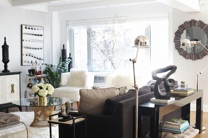 ,: Decor, White Living, Dreams Living Rooms, Consoles Tables, Colors Mixed, Coff Tables, Rue Magazines, Floors Lamps, Media Consoles