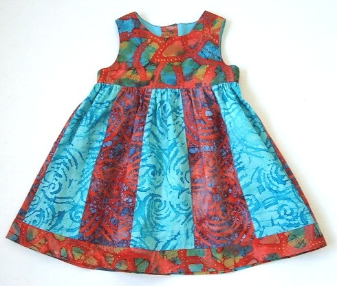 Girl's Patchwork Batik Dress by ogekko, via Flickr