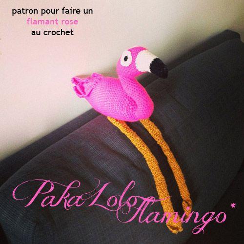 Amigurumi Flamant Rose : TUTORIAL pour faire un flamand rose au crochet ...