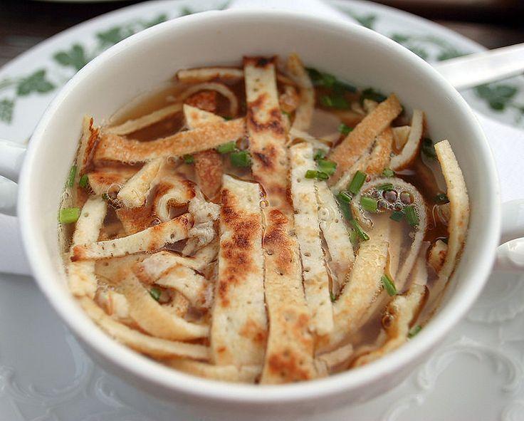 Frittatensuppe (Sliced Pancake Soup) — Taste of Austria