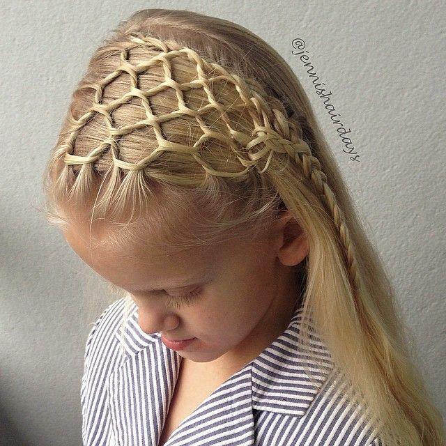 honeycomb headband by Jenni's Hairdays Hunajakennopanta