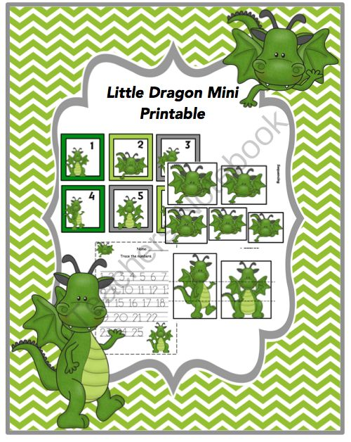 Little Dragon Mini Printable from