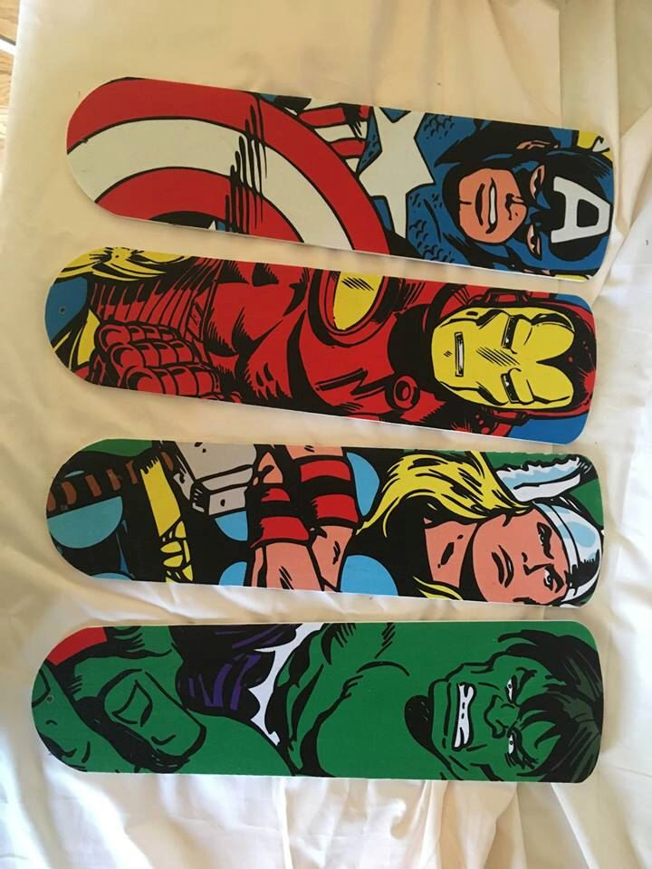 """Ceiling Fan Blades Blades ONLY 42""""-52"""" Marvel Avengers Large Characters by CraftyMom1998 on Etsy https://www.etsy.com/listing/286337199/ceiling-fan-blades-blades-only-42-52"""