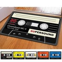 6 Color Magnetic Tape Print Thin Carpets Funny Bath Rugs Door Mats for Room Kitchen Doormats 40X60cm