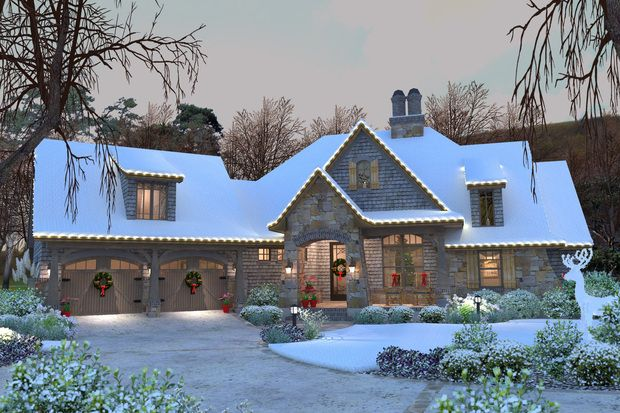 Craftsman Style House Plan - 4 Beds 3.5 Baths 2482 Sq/Ft Plan #120-184 Front Elevation - Houseplans.com