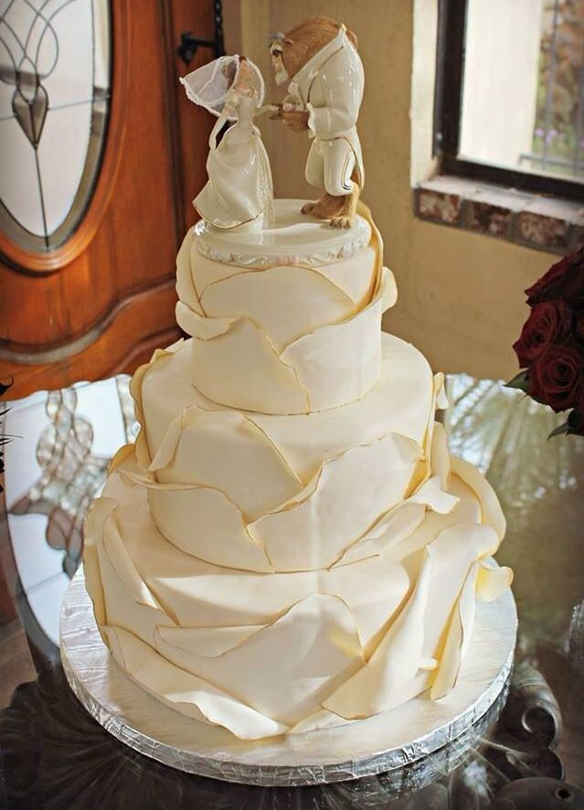 Frost your cake to look like Belle's stunning yellow gown.