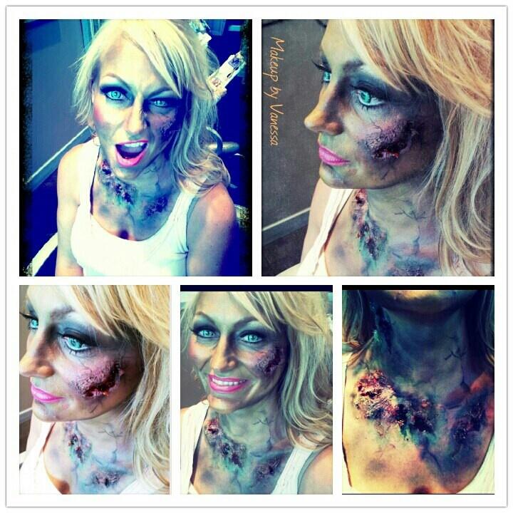 sexy zombie Halloween makeup fx