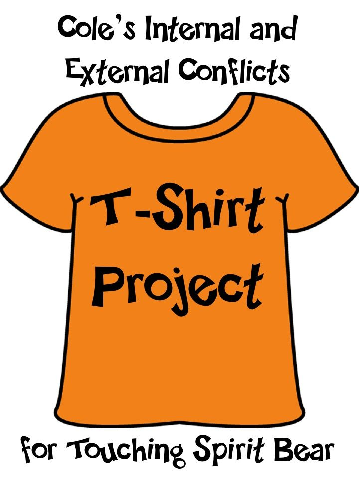 best touching spirit bear ideas book projects   cole s conflicts t shirt activity for touching spirit bear