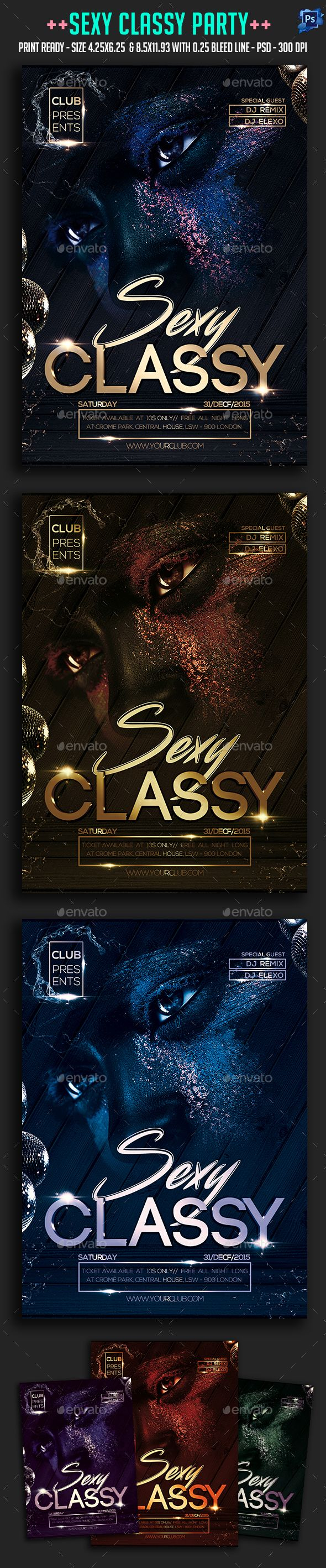 Sexy Classy Party Flyer | Casino Infographics
