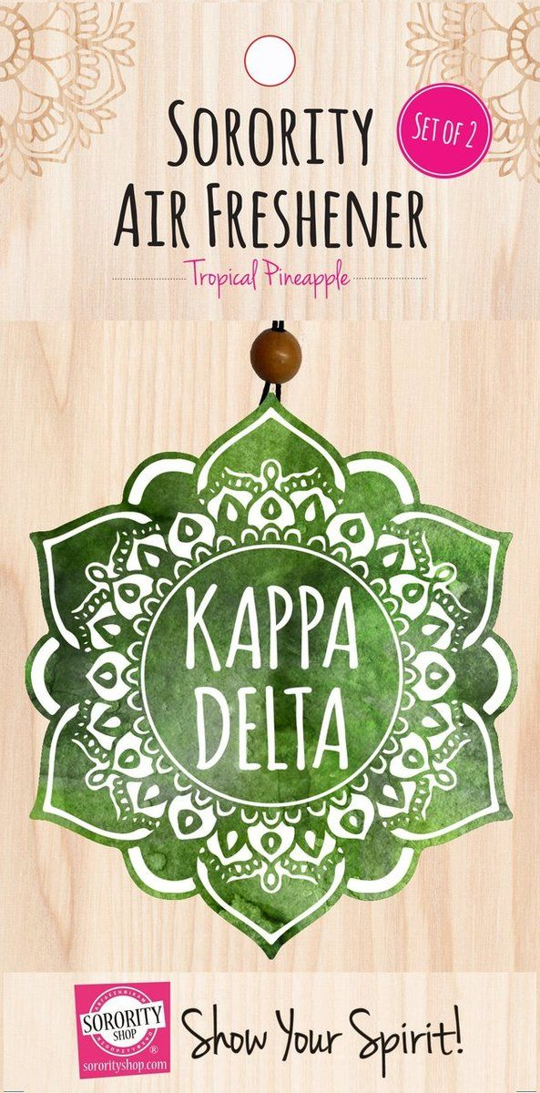 Kappa Delta Sorority Mandala Air Freshener - Brothers and Sisters' Greek Store