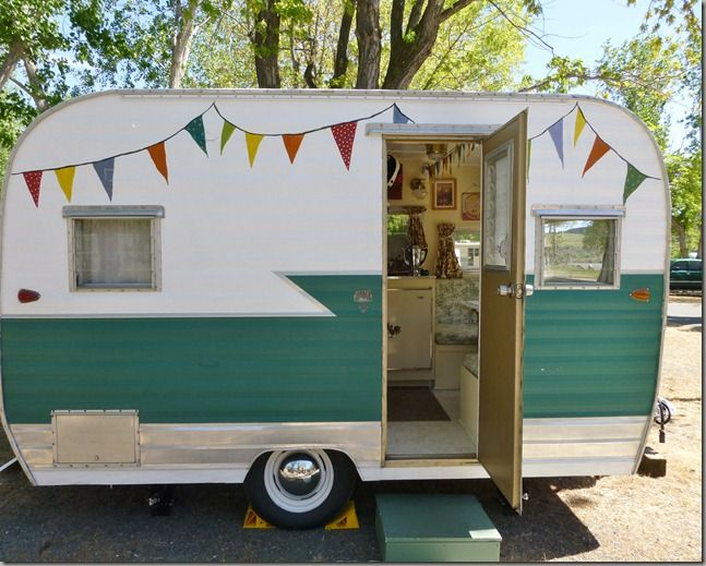 Glamping Trailers Inside   Honest, I will do better next time. So many of you ask to see the ...