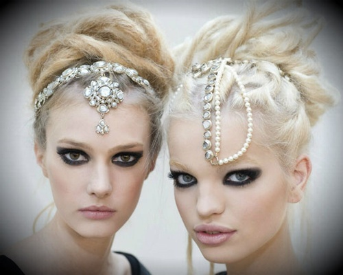 love the first headpiece....chanel!