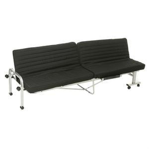 Lit pliant transformable en canapé - Couchage 80x190 cm pour 1 personne - Matelas mousse 25 kg/m3, épaisseur 8 cm - Structure métallique