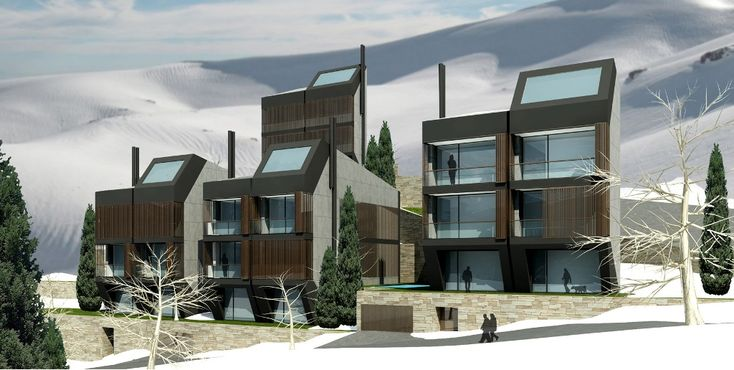 This project is situated in the scenic town of Faqra in Mount Lebanon, at an altitude of 1800 m, near the ski resorts of Faqra and Faraya. This complex of townhouses was designed to contain a number of apartments planned as winter as well as summer r