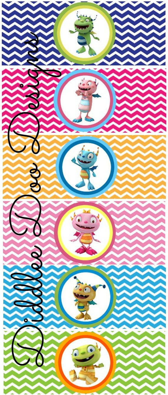 Custom Henry Hugglemonster Bubble Labels for by DiddleeDooDesigns