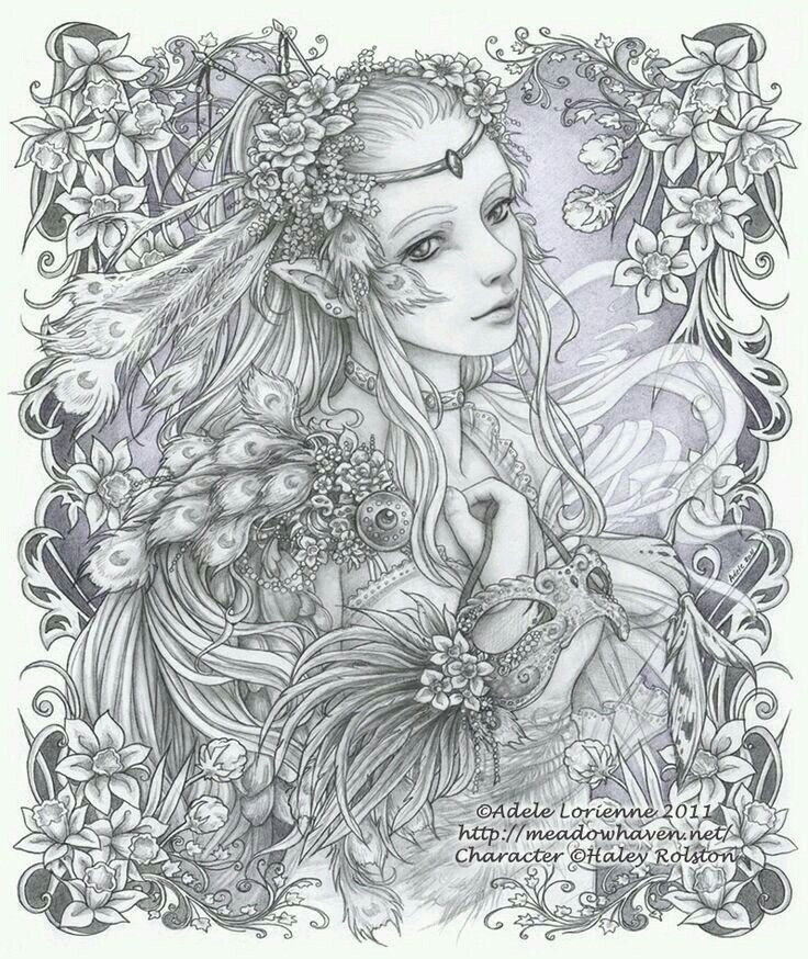 92 best My Fairies images on Pinterest   Coloring books, Coloring ...