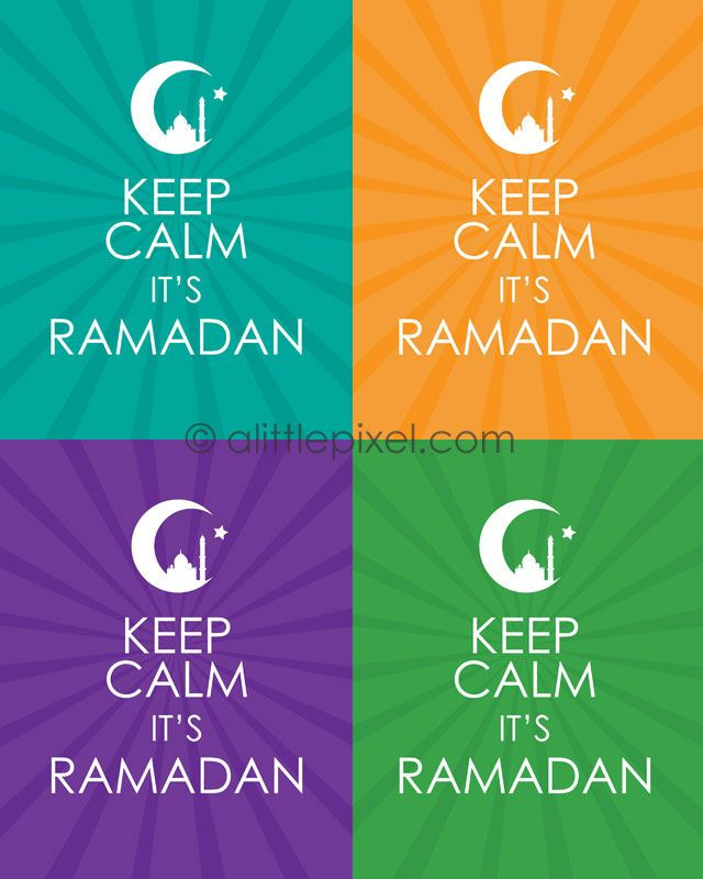 Free Printable Keep Calm it's Ramadan Poster — A Little Pixel