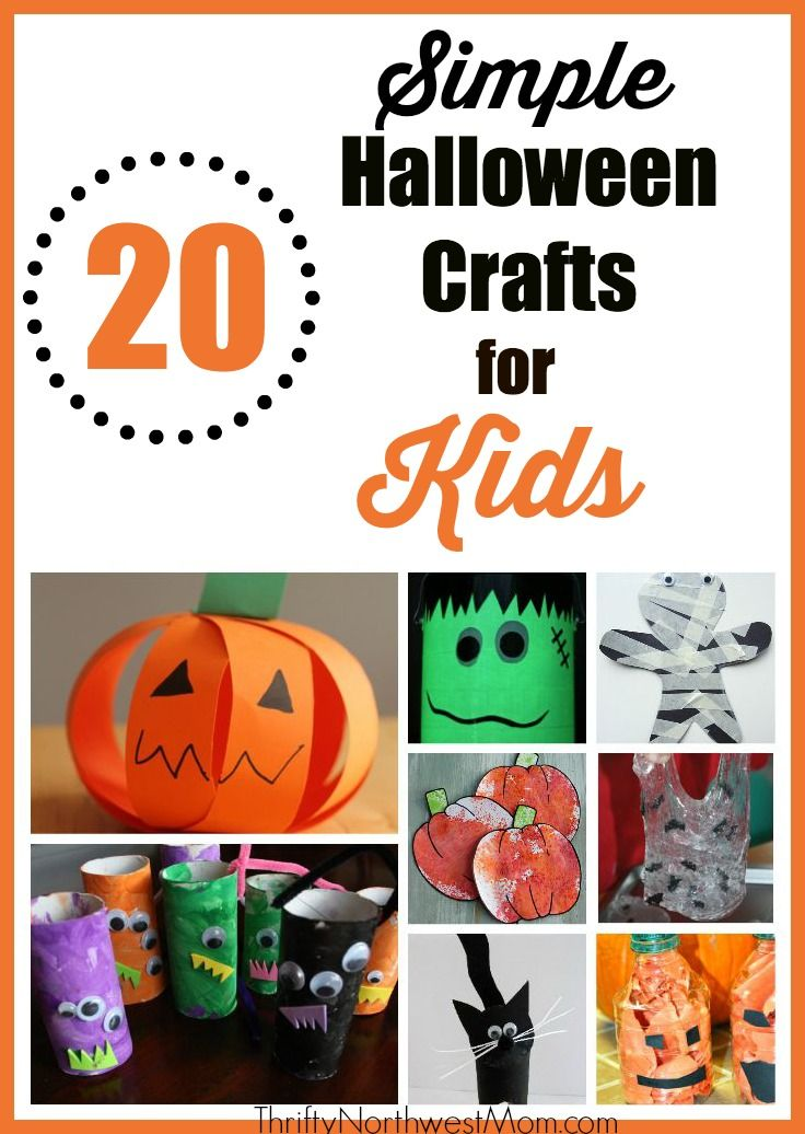 Check out this roundup of 20 simple Halloween crafts for kids!