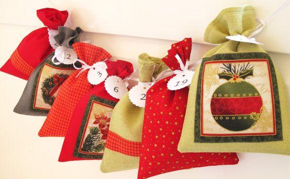 Countdown till Christmas advent calendar bags by Luciadesign