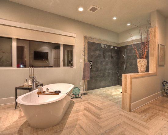 Bathroom Design, Modern Doorless Bathroom Shower Designs