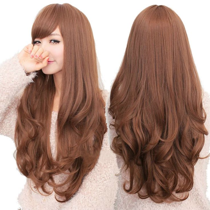 Details About Fashion Long Curly Wavy Wigs Cosplay Women S