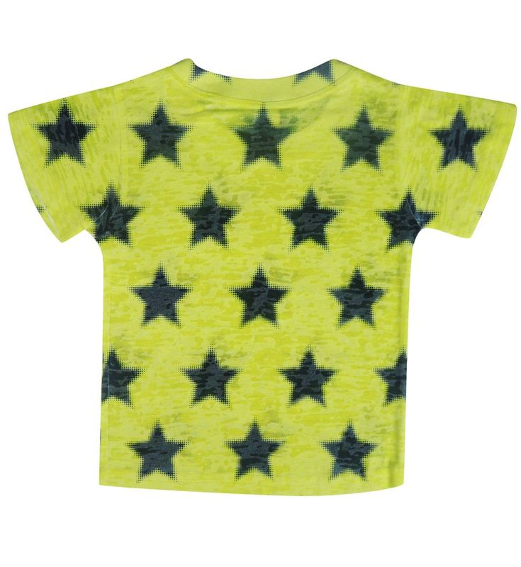 Yellow Pixel Stars Tee