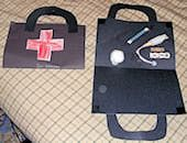 Thinking about doing a version of this for Saint Frances Cabrini.  Doctor Bag Craft ~ How to Make a Simple Doctor's Bag Craft