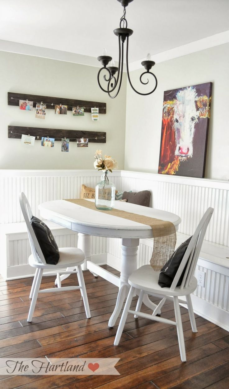Painted pine farmhouse kitchen table by distressed but not forsaken - Our Chalk Painted Kitchen Table For The Breakfast Nook