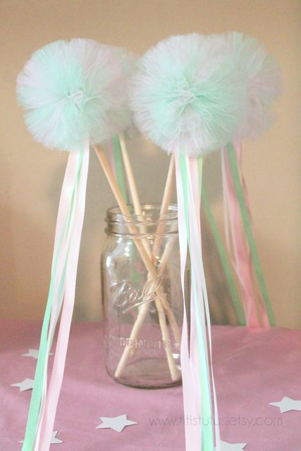 Wands at a Fairy Party #fairy #partywands