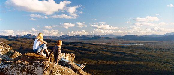 Reeds Lookout, Grampians National Park near Melbourne  7km de marche pour voir les kangourous, randonnee, camping