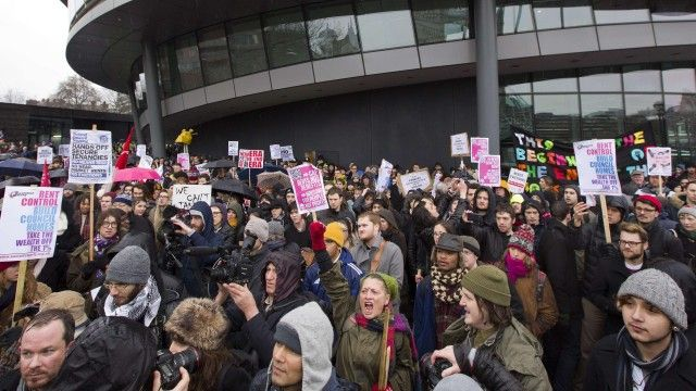 Thousands gather in London to protest against lack of affordable housing   Society   The Guardian