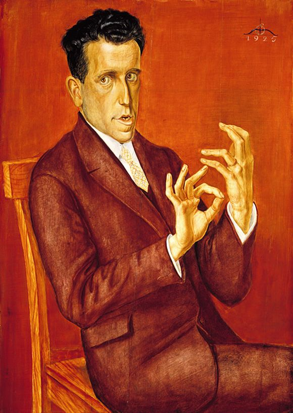 OTTO DIX. Portrait of the Lawyer Hugo Simons. 1925.